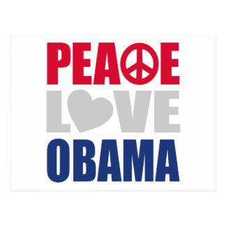 Peace Love Obama Post Cards