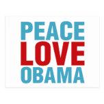Peace Love Obama Postcards