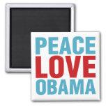 Peace Love Obama Refrigerator Magnets