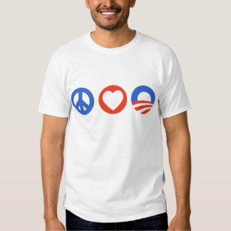 Peace Love Obama Shirt