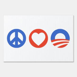 Peace Love Obama Sign