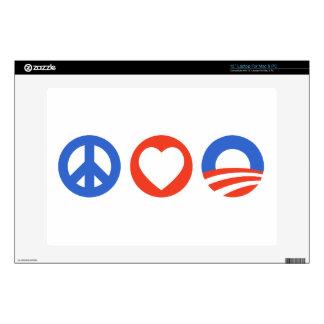 Peace Love Obama Skins For Laptops