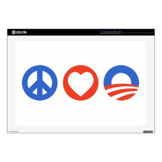 Peace Love Obama Skin For Laptop