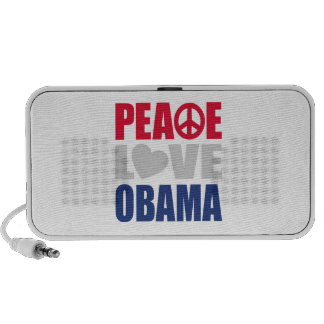 Peace Love Obama Notebook Speaker