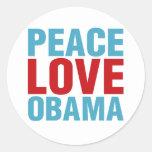 Peace Love Obama Sticker