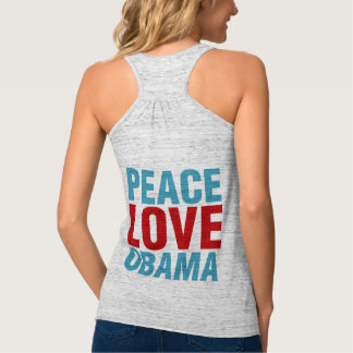 Peace Love Obama Tank Top