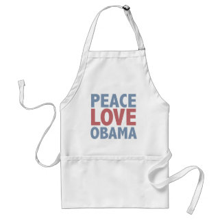 Peace Love Obama Tees and Gifts Adult Apron