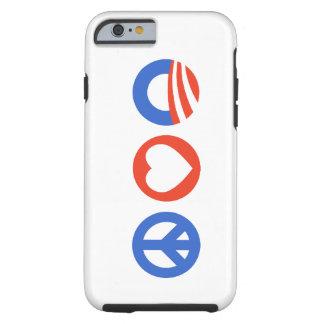 Peace Love Obama Tough iPhone 6 Case