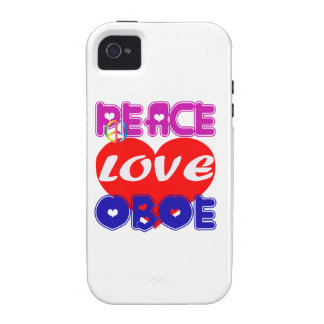 Peace Love Oboe iPhone 4 Cases