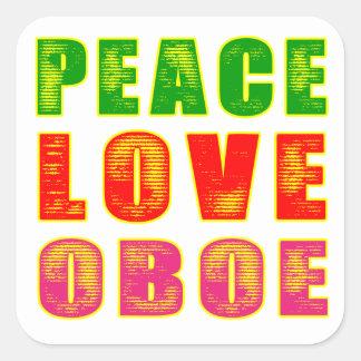 Peace Love Oboe Square Sticker