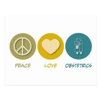 Peace Love Obstetrics Postcard