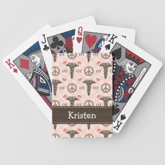 Peace Love Occupational Therapy Bicycle Playing Cards