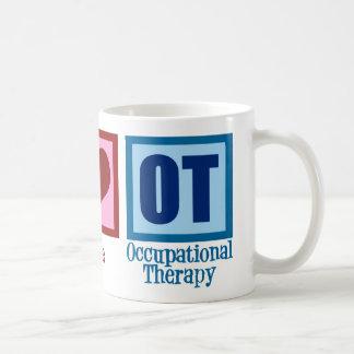 Peace Love Occupational Therapy Classic White Coffee Mug