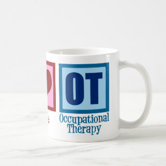 Peace Love Occupational Therapy Coffee Mug