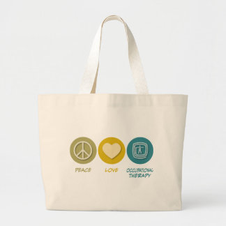 Peace Love Occupational Therapy Large Tote Bag