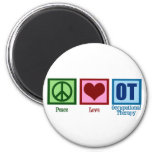 Peace Love Occupational Therapy Refrigerator Magnets