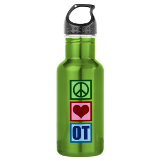 Peace Love Occupational Therapy Water Bottle