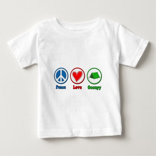 Peace Love Occupy Baby T-Shirt