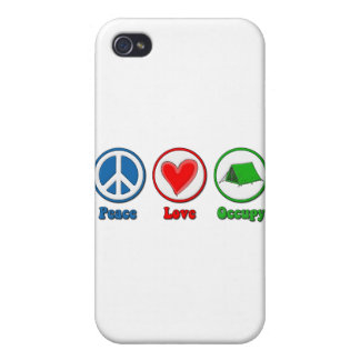 Peace Love Occupy iPhone 4/4S Case