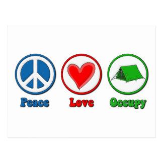 Peace Love Occupy Post Card