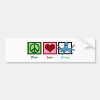 Peace Love Octopus Bumper Sticker
