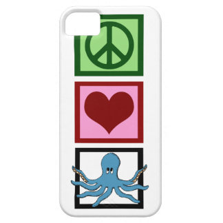 Peace Love Octopus iPhone 5 Cover