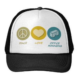Peace Love Office Managing Mesh Hats
