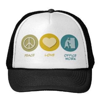 Peace Love Office Work Hat