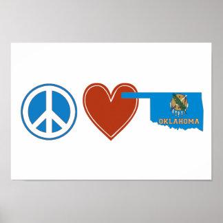 Peace Love Oklahoma Posters