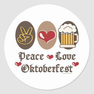 Peace Love Oktoberfest Stickers