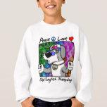 Peace Love Old English Sheepdog Kids Apparel Sweatshirt