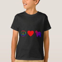 Peace Love Old English Sheepdogs Child's T-Shirt