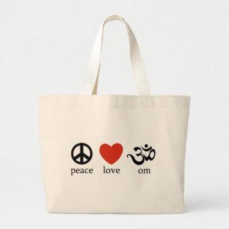 Peace Love Om Gift Jumbo Tote Bag