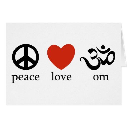 Peace Love Om Gift Card
