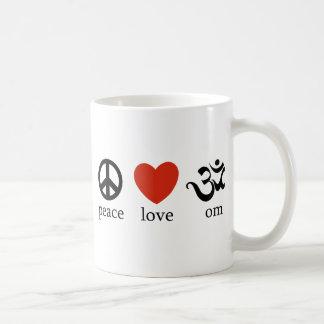 Peace Love Om Gift Classic White Coffee Mug
