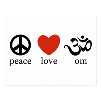 Peace Love Om Gift Postcard