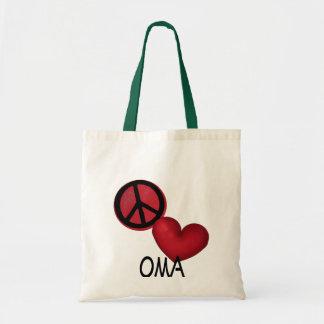 Peace Love Oma Canvas Bag