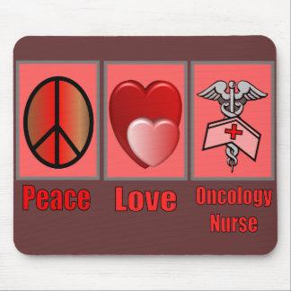 Peace Love ONCOLOGY Nurse Mousepad