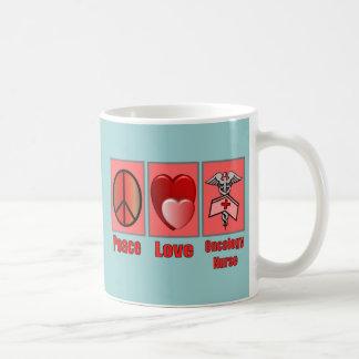 Peace Love ONCOLOGY Nurse Mugs