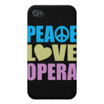 Peace Love Opera Cases For iPhone 4