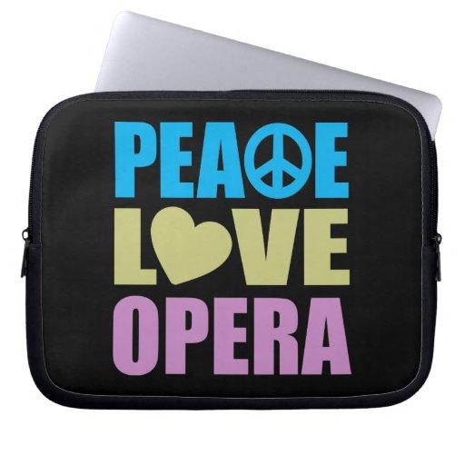 Peace Love Opera Laptop Computer Sleeve