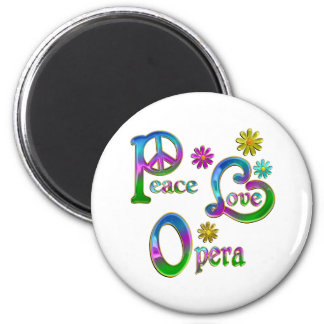 Peace Love Opera Refrigerator Magnets