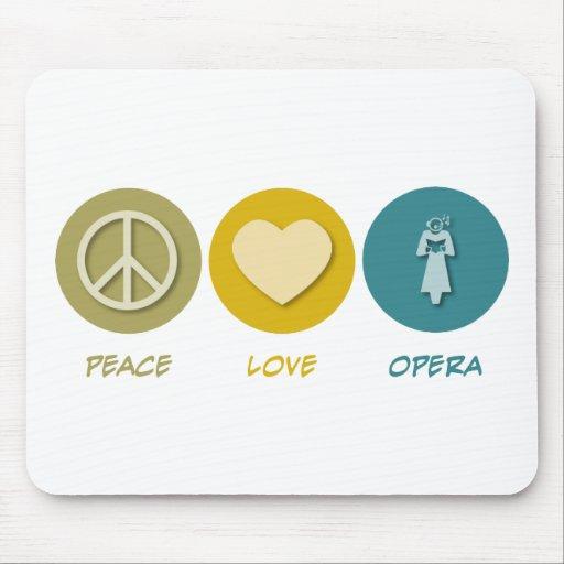 Peace Love Opera Mouse Pad