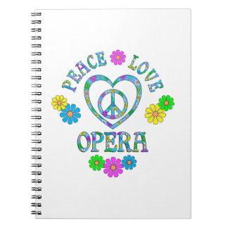 Peace Love Opera Notebook