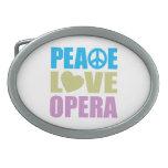 Peace Love Opera Oval Belt Buckle
