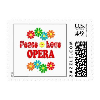 Peace Love Opera Postage