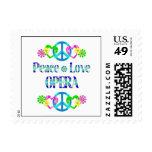 Peace Love Opera Stamp