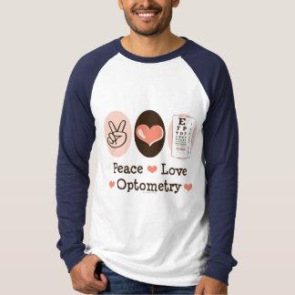 Peace Love Optometry Baseball Jersey Tee