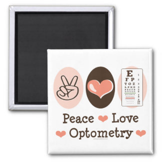 Peace Love Optometry Magnet