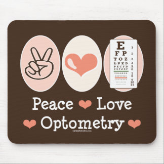 Peace Love Optometry Mousepad